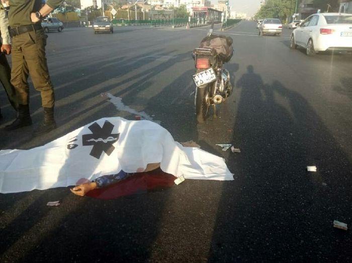 مرگ 2 عابر پیاده در برخورد مرگبار با خودرو سنگین