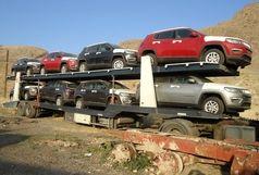 توقیف 18 خودرو لوکس بر روی 4 تریلی