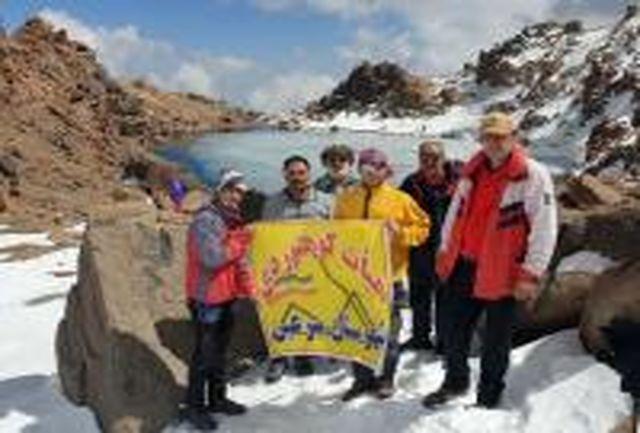 اعضای هیات کوهنوردی شهرستان سرعین به قله سبلان صعود کردند