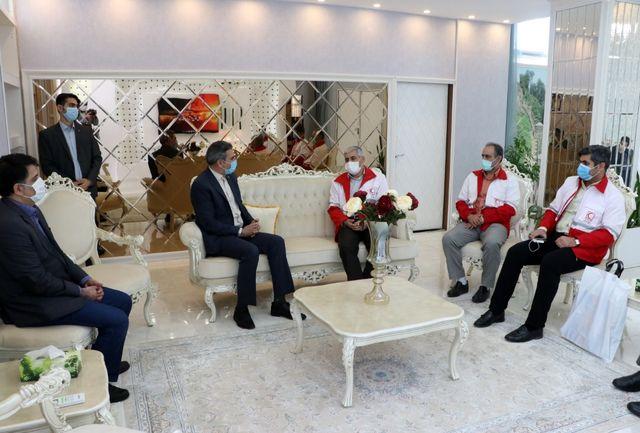 دیدار مدیرعامل جمعیت هلال احمر استان گیلان با مدیرکل راه آهن شمال ۲ کشور