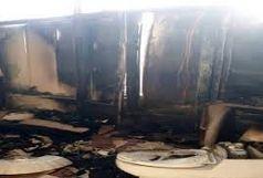 آتش سوزی چهار باب مغازه در بازارچه میوه و تره بار