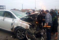 یک کشته و چهار مصدوم در تصادف شامگاه جمعه محمودآباد