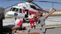 امدادهوایی و کوه پیمایی برای نجات جان دو مصدم در چهارمحال وبختیاری