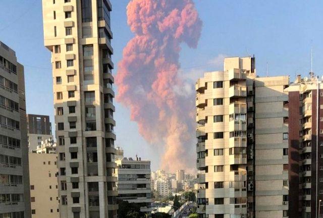 انفجار مهیب بیروت از زاویه دیگر/ببینید
