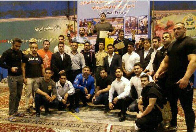 نیروی زمینی قهرمان رقابتهای سراسری پاراکلینیک ارتشهای ایران ایستاد
