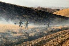 50 هکتار از اراضی منطقه حفاظت شده انگوران در آتش سوخت