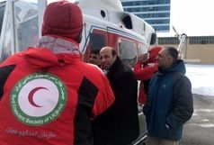اعزام بالگرد جمعیت هلال احمر برای کمکرسانی به روستاییان میانه، هشترود و چاراویماق