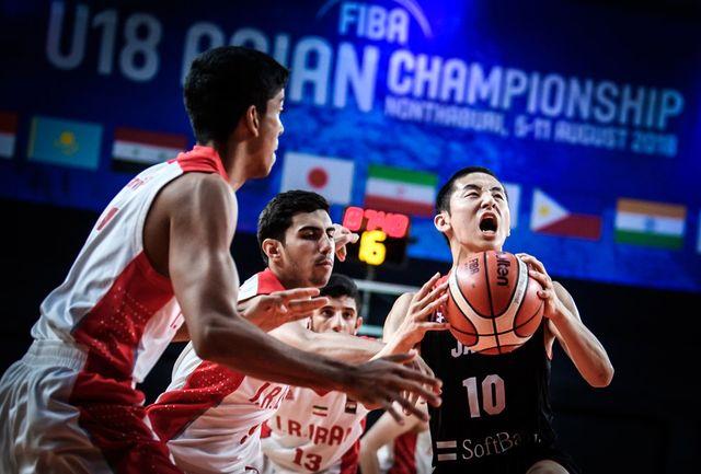 پایان کار تیم ملی جوانان ایران در بسکتبال قهرمانی آسیا