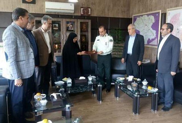 دیدار مسئولین آموزش و پرورش استان زنجان با فرمانده نیروی انتظامی