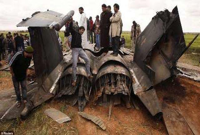 سقوط یک جنگنده در پرواز آزمایشی