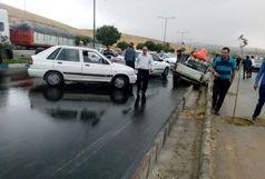 تصادف زنجیره ای  در محور زنجان به بیجار ۸ مصدوم بر جای گذاشت