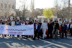 همایش پیاده روی هفته سلامت در همدان برگزار شد