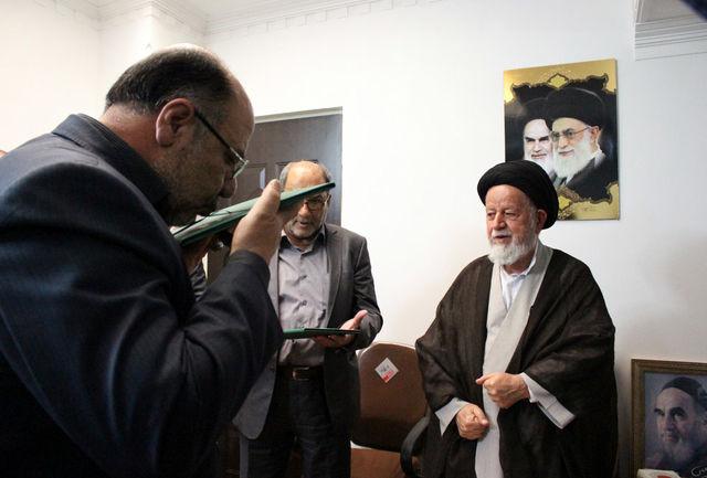 مراسم تودیع و معارفه رییس ستاد بازسازی  عتبات عالیات استان سمنان برگزار شد