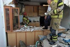 انفجار در یک منزل مسکونی و ریزش دیوار در تهران