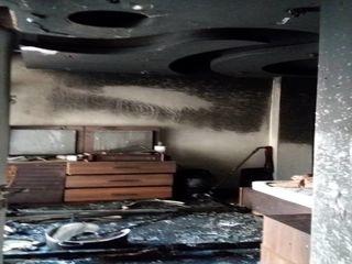 آتش سوزی در پاداد شهر اهواز