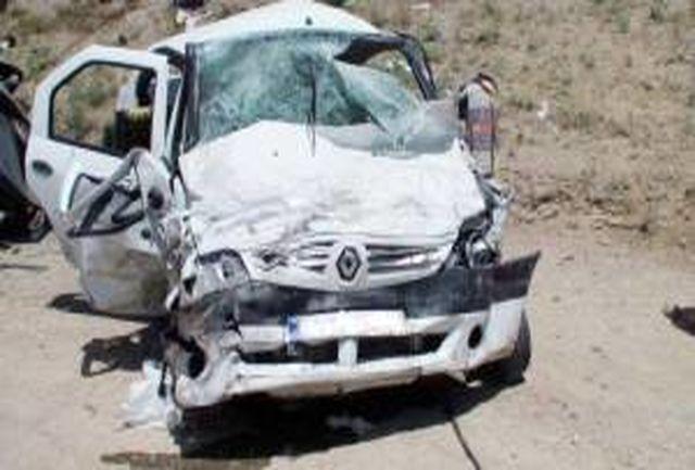 یک کشته و 3 مصدوم حاصل تصادف 2 دستگاه ال 90 در زنجان
