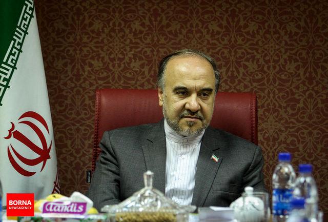 وزیر ورزش وجوانان تهران را به مقصد سن پترزبورگ ترک کرد