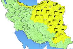 اخطاریه و هشدار سطح زرد سازمان هواشناسی نسبت به تداوم فعالیت سامانه بارشی در 10 استان کشور