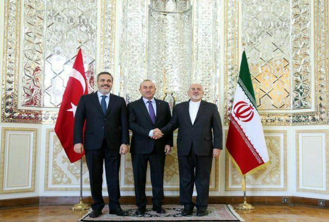 وزیران خارجه و امنیت ترکیه با ظریف دیدار کردند