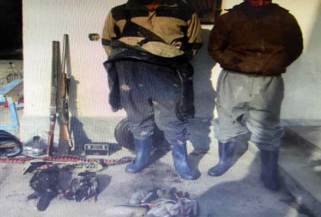 دستگیری شکارچی  غیر مجاز در حین شروع به شکار