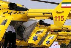 نجات جان جوانی که از 15 متری سقوط کرد