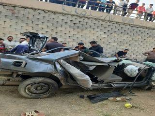 سقوط خودرو از روی پل شیبان اهواز