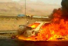 ۴ نفر در واژگونی پژو پارس سوختند