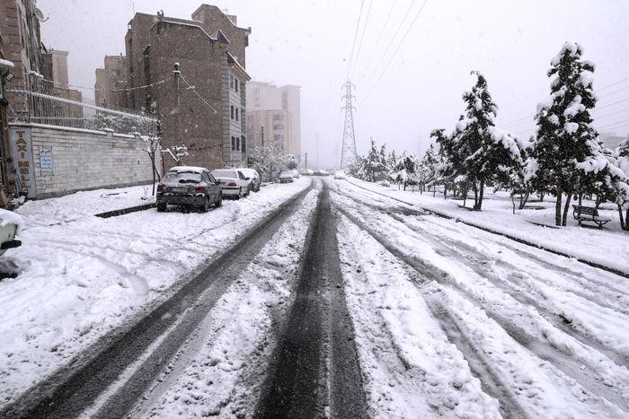 محورهای کردستان برفی است