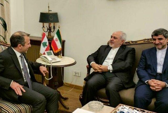 ظریف با وزیر خارجه لبنان دیدار کرد