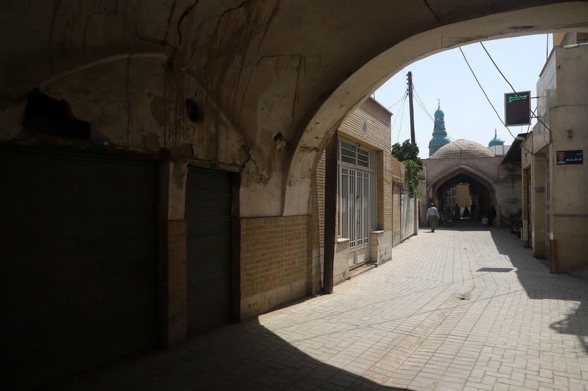 بهسازی محور فرهنگی تاریخی شاه حمزه(ع) به اتمام رسید