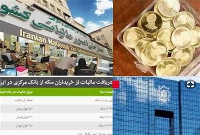 تشکیل پرونده مالیاتی برای خریداران سکه در استان