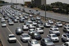 ترافیک سنگین در آزادراه کرج_ تهران/سقوط بهمن در کمین محورهای کوهستانی