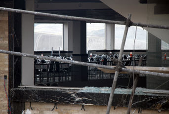 محل حادثه تالار عروسی شهرستان سقز