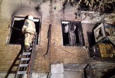 آتش سوزی در خیابان ولیعصر (عج) /تعداد مصدومین مشخص شد