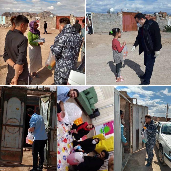 توزیع اقلام بهداشتی در مناطق حاشیه شهر کرمان