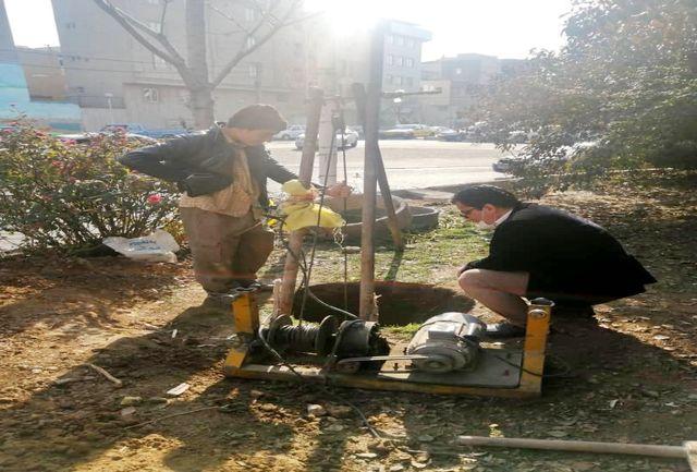 رفع خطر نشست زمین در میدان بهمنیار