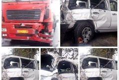 راننده تریلری که با خودرو نوربخش و تاج الدین تصادف کرد بازداشت شد