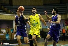 صعود بسکتبالیست های آبادانی به مرحله یک چهارم نهایی لیگ برتر/هماد سامری: هدف ما در مرحله یک هشتم نهایی بازی دادن جوانان بود
