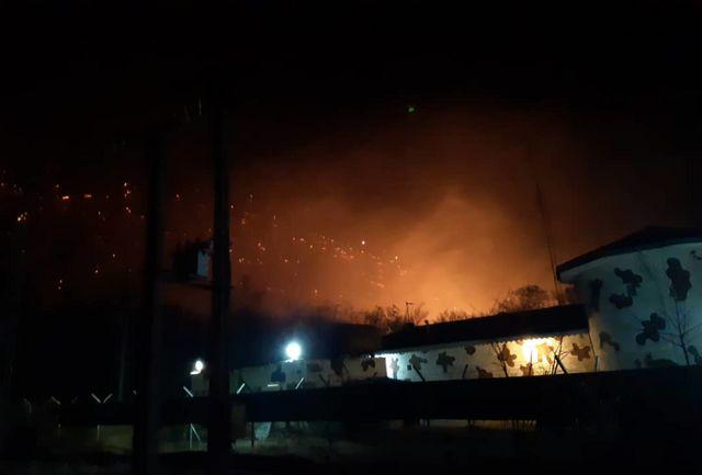آتش سوزی در جنگل های آقچای آستارا