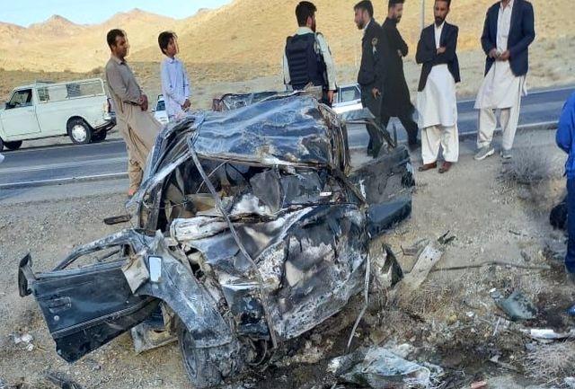 تصادف هولناک در جاده خاش _ زاهدان/ ۸ نفر کشته شدند