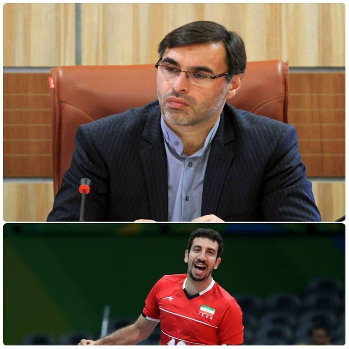 مدیرکل ورزش و جوانان قزوین کسب سهمیه حضور در المپیک توسط مهدی مرندی را تبریک گفت