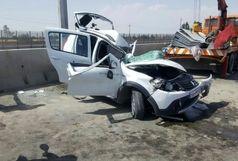 سه کشته در تصادف پژو با تریلی در جاده همدان
