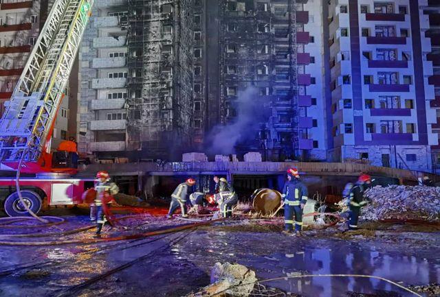 Image result for آتش سوزی در برج گلستان تبریز