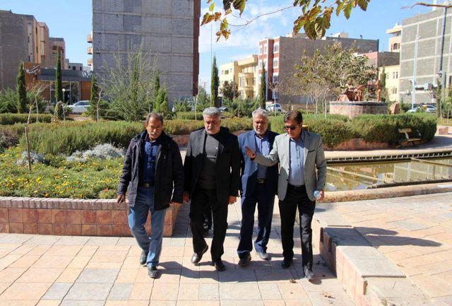 بازدید شهردار، رئیس و اعضای شورای شهر بافت از پروژههای شهری کرمان