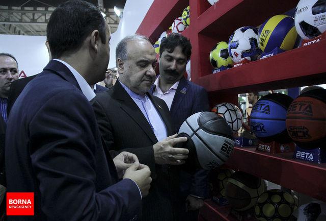 افتتاح نمایشگاه تجهیزات ورزشی با حضور دکتر سلطانیفر/ ببینید