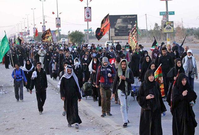 پیاده روی ۱۱ کیلومتری جاماندگان اربعین حسینی در شادگان