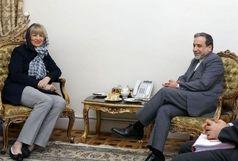 هلگا اشمید با عراقچی دیدار کرد