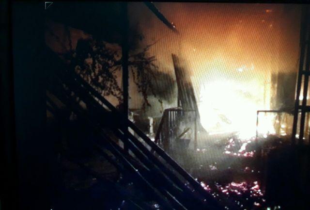 آتش سوزی یک خانه ویلایی در رودسر