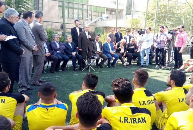 بازدید وزیر ورزش و جوانان از اردوی تیم فوتبال ناشنوایان