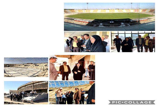 بازدید فرامرزیان، احمدی و فلاح از پروژه سالن 6هزار نفری و استادیوم فوتبال ثامن